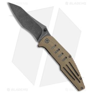 """Browning Black Label Freeze Point Liner Lock Knife Tan (3.5"""" Black SW) 3220268"""