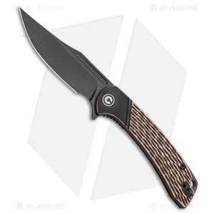 "CIVIVI Dogma Liner Lock Knife Copper (3.5""  Black Stonewash) C2014B"