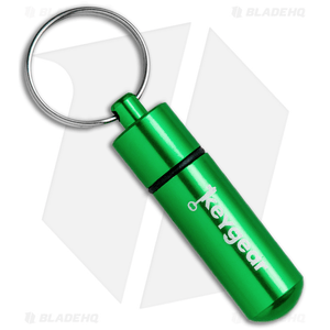 KeyGear Aluminum Storage Capsule Key Chain (Green)