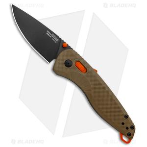 "SOG Aegis AT-XR Lock Knife Tan/Blaze GRN (3.13"" Gray)"