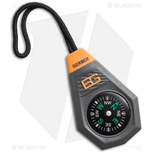 Gerber Bear Grylls Compact Compass Zipper Pull Lanyard