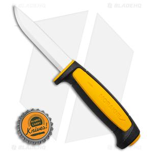 "Morakniv Basic 511 Fixed Blade Knife Black/Yellow (3.5"" Satin)"