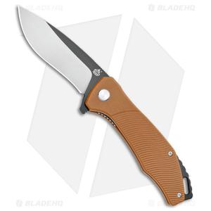 "QSP Raven Liner Lock Knife Brown G-10 (3.37"" Satin)"