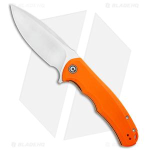"CIVIVI Praxis Flipper Liner Lock Knife Orange  G-10 (3.75"" Satin) C803D"