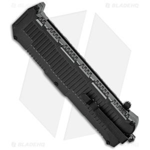 "Schrade Viper OTF Automatic Knife Black (3.375"" Black Serr) SCHOTF8BS"