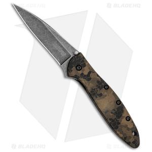 "Kershaw Leek Spring Assisted Knife  A/O Digital Brown (3"" Black SW) 1660DEB"