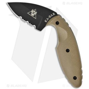 "Ka-Bar Small TDI Law Enforcement Knife Coyote Brown (2.31"" Black Serr) 1477CB"