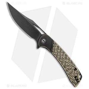 "CIVIVI Dogma Liner Lock Knife Brass (3.5"" Black Stonewash) C2005E"