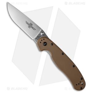 """Ontario RAT Model 1 Liner Lock Knife Coyote Brown (3.625"""" Satin) 8848CB"""