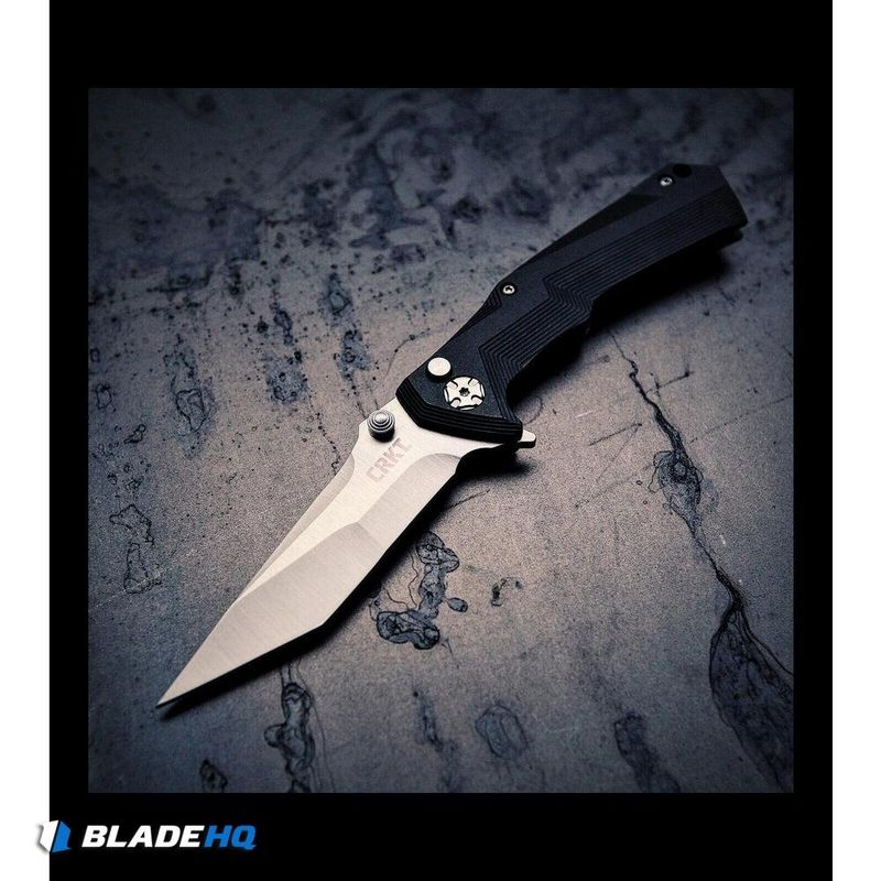 CRKT-Tighe-Tac-Two-Tanto-Flipper-Button-Lock-Knife-GRN--3.25--Satin--5235
