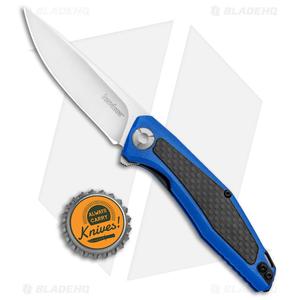 "Kershaw Sinkevich Atmos Liner Lock Knife Blue G-10/Carbon Fiber (3"" Satin)"