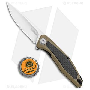 "Kershaw Sinkevich Atmos Liner Lock Knife Tan G-10/Carbon Fiber (3"" Satin)"