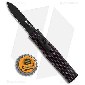 "AKC Minion Concord OTF Automatic Knife Sim Carbon Fiber (2.3"" Black Flat Grind)"
