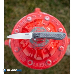 """CRKT Onion Slacker Liner Lock Field Strip Knife Aluminum (3.32"""" Satin) K350KXP"""