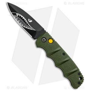 "Boker Warhawk Kalashnikov Dagger Automatic Knife Green (3.25"" Black)"
