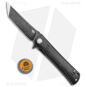 "Bestech Knives Kendo Tanto Frame Lock Knife Titanium (3.75"" Black Stonewash)"