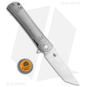 "Bestech Knives Kendo Tanto Knife Left-Hand Titanium (3.75"" Stonewash)"