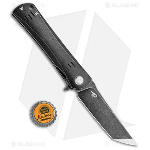 "Bestech Knives Kendo Tanto Knife Left-Hand Titanium (3.75"" Black SW)"
