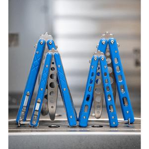 "Boker Plus Mini Balisong Trainer Blue G-10 (3.25"" Satin) 01BO715SOI"