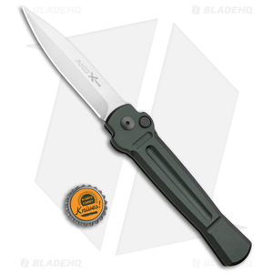 "AKC X-treme Ace Automatic Knife Green (3.6"" Satin)"