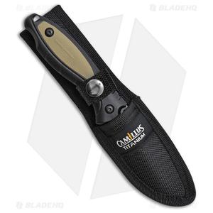 "Camillus Replaceable TigerSharp Fixed Blade Knife Tan (3.5"" Satin)"