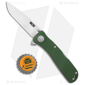 """SOG Twitch II Spring Assisted Knife Moss (2.68"""" Satin) TWI210-BX"""