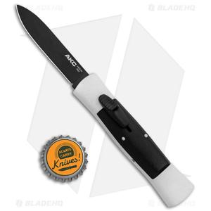 "AKC 007 Concord OTF Automatic Knife White/Black (2.75"" Black Flat)"