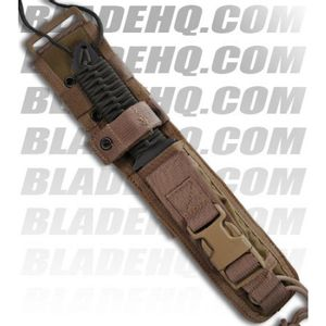 Strider Knives WB MOD 10 Tanto Fixed Blade Knife w/ OD Cord Wrapped (Tiger PLN)
