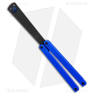 "Squid Industries Squiddy-U Butterfly Balisong Trainer Blue (4.3"" Black)"