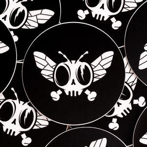 """Black Dead Fly Sticker - Large 2.5"""""""