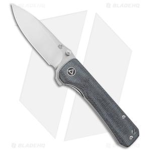 """QSP Hawk Liner Lock Knife Black Linen Micarta (3.25"""" Satin)"""