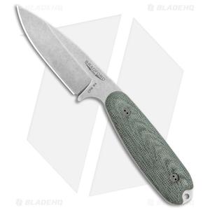"Bradford Knives Guardian3.5 Fixed Blade 3D Black (3.75"" Stonewash Black)"