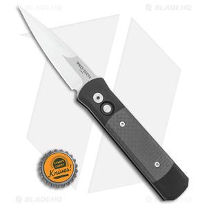 "Pro-Tech Godson Automatic Knife Black/Carbon Fiber (3.15"" Satin) 704"