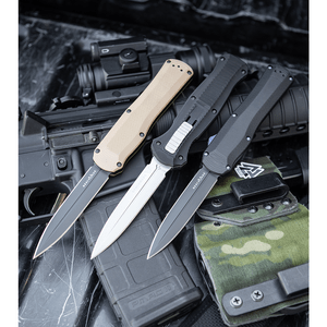 """Benchmade Infidel Knife OTF Double Action Automatic (3.95"""" Satin) 3300"""