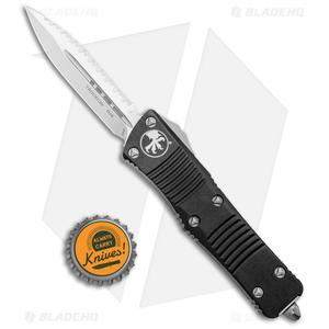 "Microtech Troodon D/E OTF Automatic Knife (3"" Satin Full Serr) 138-6"