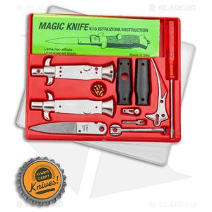 """SKM 4"""" Italian Stiletto Keychain Kit - Black Acrylic"""