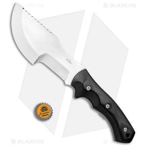 """Jurgen Schanz Custom WSK Tracker Knife Micarta Black (6.5"""" Satin)"""