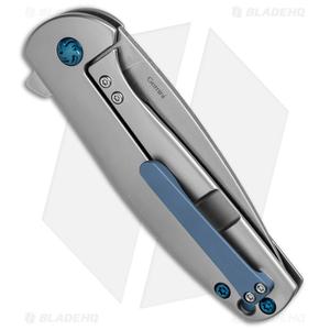 "Kizer Laconico Gemini Frame Lock Knife w/ Blue Clip (3.125"" Stonewash) Ki3471"