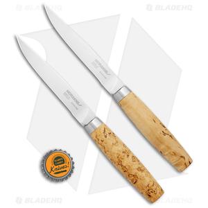 "Morakniv Two-Piece Steak Knife Gift Set Birch Wood (4.6"" Satin)"