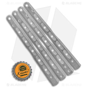 Flytanium V9 Custom Titanium Scales for Benchmade 51 Balisong Knife - Stonewash