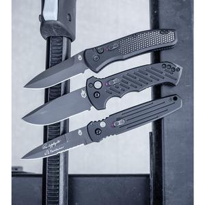 "Gerber Auto 06 Automatic Knife Black Aluminum (3.6"" Black)"