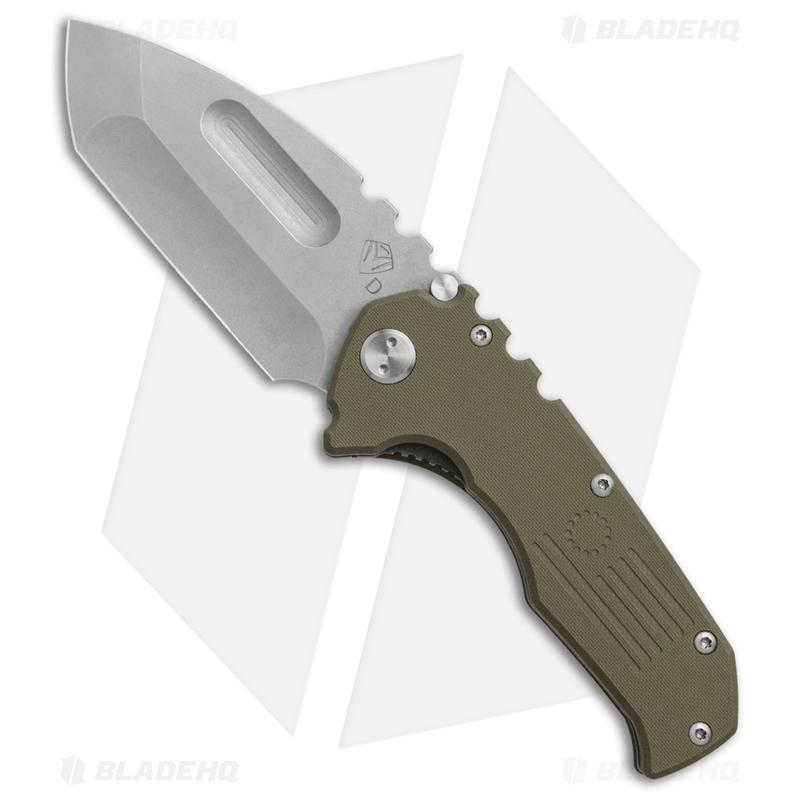 Medford-Praetorian-P-Liner-Lock-Knife-OD-Green-G-10--3.75--Tum--MKT