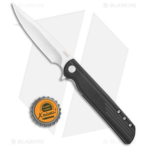"""CRKT LCK + Spring Assisted Liner Lock Knife Black GRN (3.3"""" Satin) 3801"""