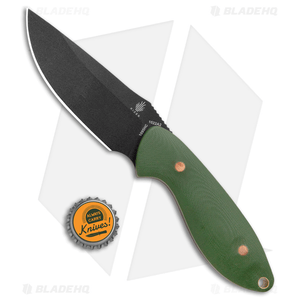 "Kizer Garza Sequoia Fixed Blade Knife OD Green G-10 (3.78"" Black) 1022A2"