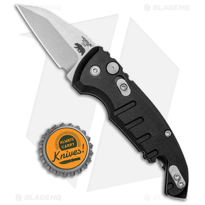 """Hogue Knives CA Legal A01 Microswitch Wharncliffe Auto Knife Black (1.8"""" SW)"""