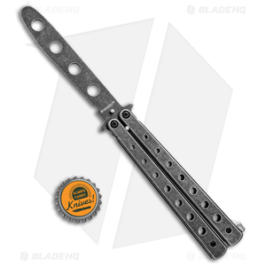 """Boker Magnum Balisong Trainer Butterfly Knife (3.75"""" Black SW) 01MB612"""