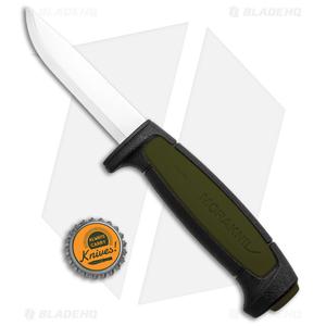 "Morakniv Basic 511 Fixed Blade Knife Black/OD Green (3.5"" Satin)"