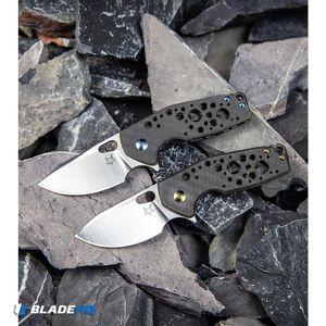 "Fox Knives Vox Suru Flipper Knife Carbon Fiber Bronze Hardware (2.3"" Satin M390)"