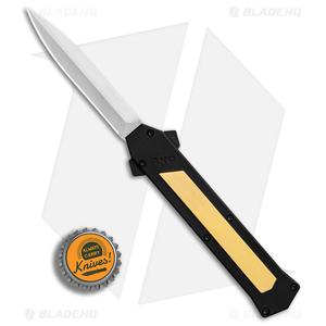 """AKC F-16 Bayonet D/A OTF Automatic Knife Brass (3.3"""" Satin)"""
