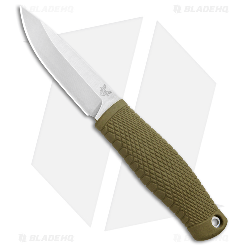 Benchmade-200-Puukko-Fixed-Blade-Knife-Ranger-Green--3.75--Satin-CPM-3V-